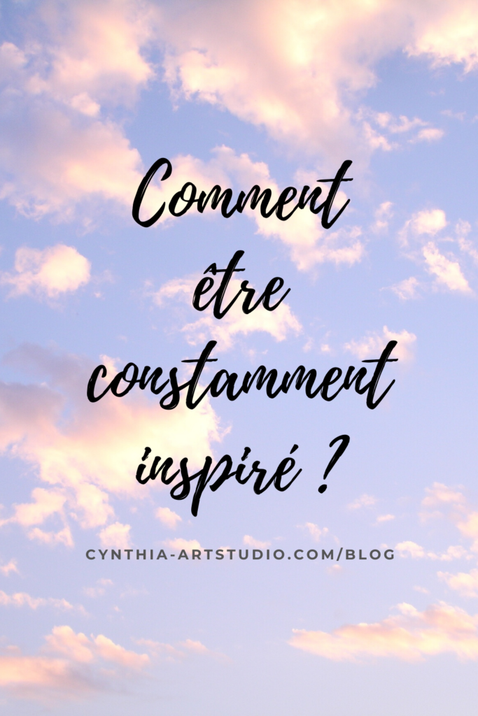 pin it article sur l'inspiration Cynthia Artstudio