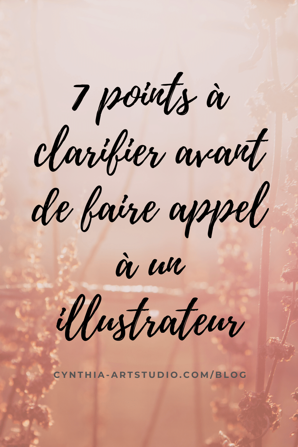 Article : Sept points à clarifier avant de faire appel à un illustrateur écrit par Cynthia Artstudio