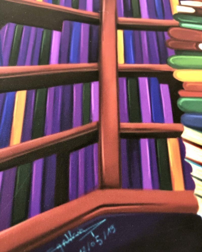 art print secret library Cynthia Artstudio