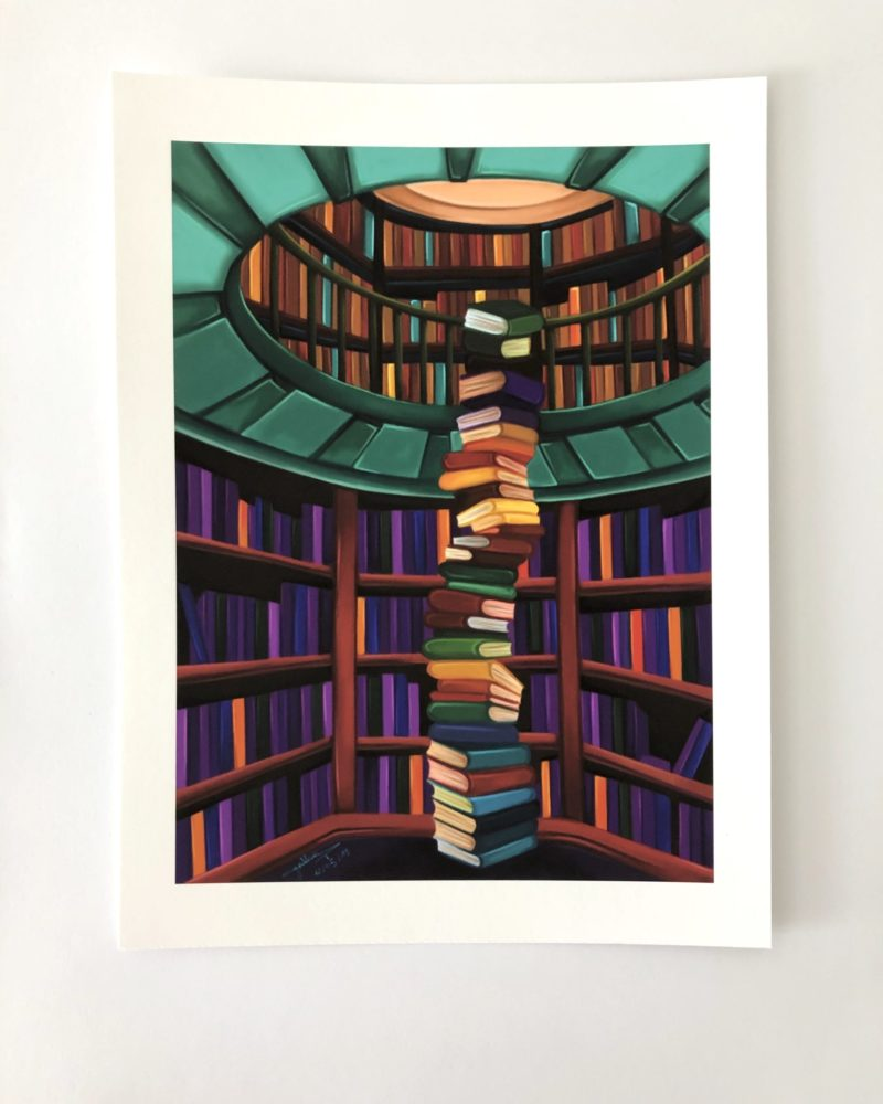 art print secret library Cynthia Artstudio