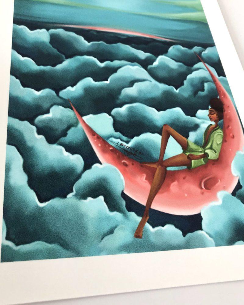 art print the moon Cynthia Artstudio