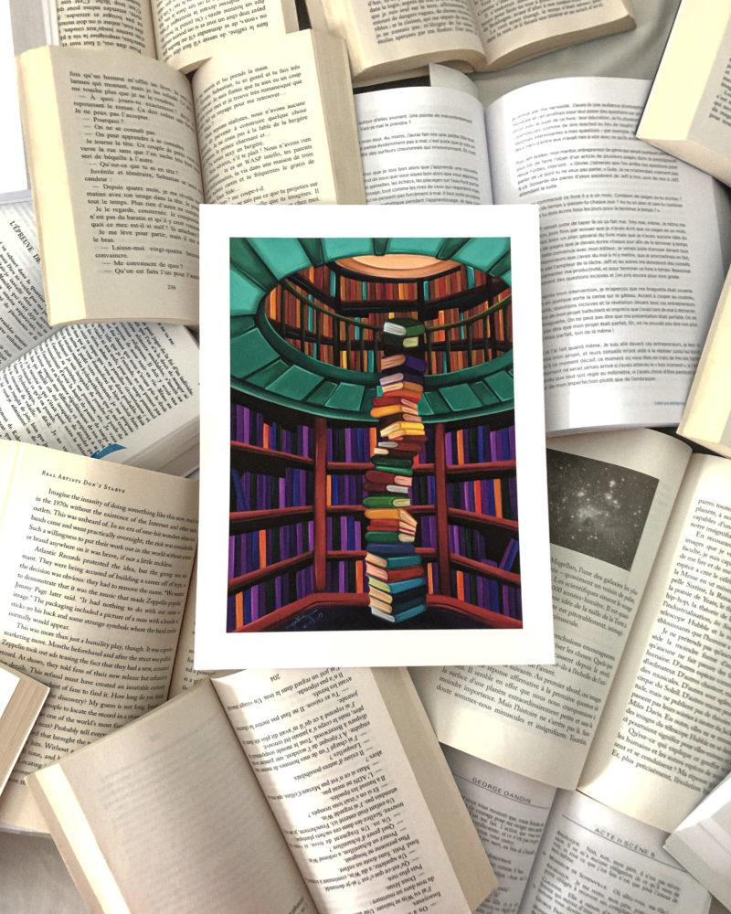 Tirage d'art Secret Library de Cynthia Artstudio