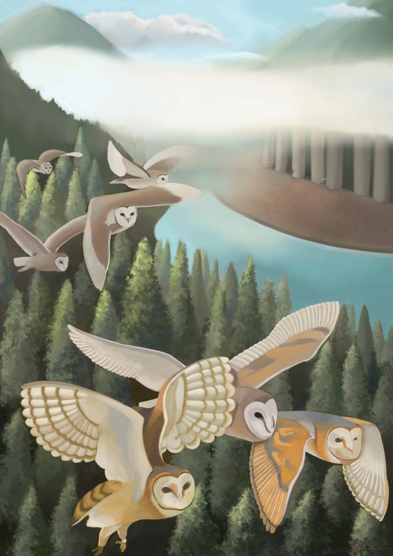 Migration illustration de Cynthia Artstudio