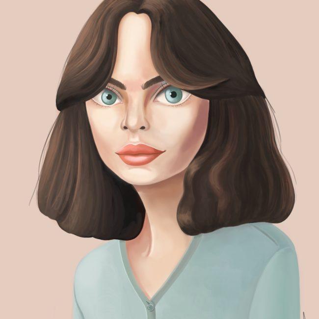 Portrait d'une femme illustration Cynthia Artstudio