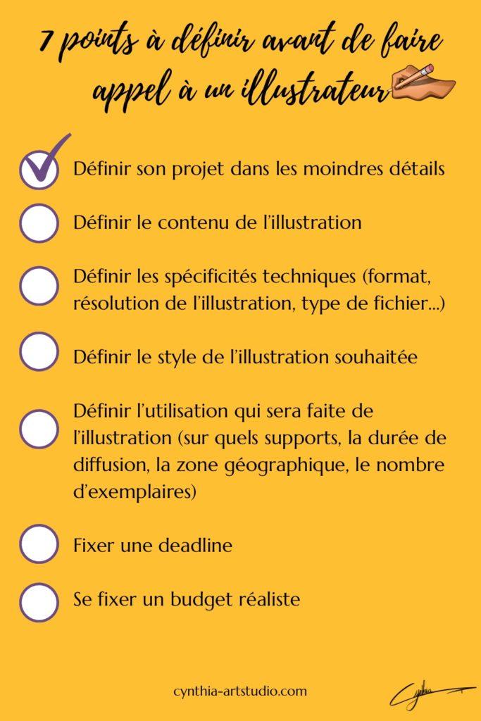 Check-list avant de faire appel à un illustrateur article écrit par Cynthia Artstudio
