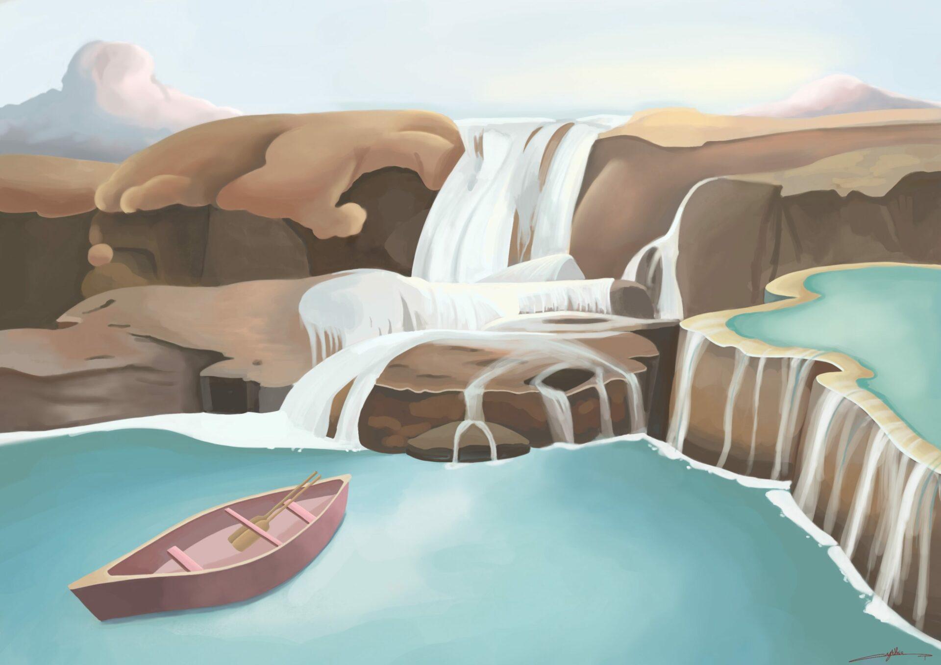 Paysage illustration de Cynthia Artstudio