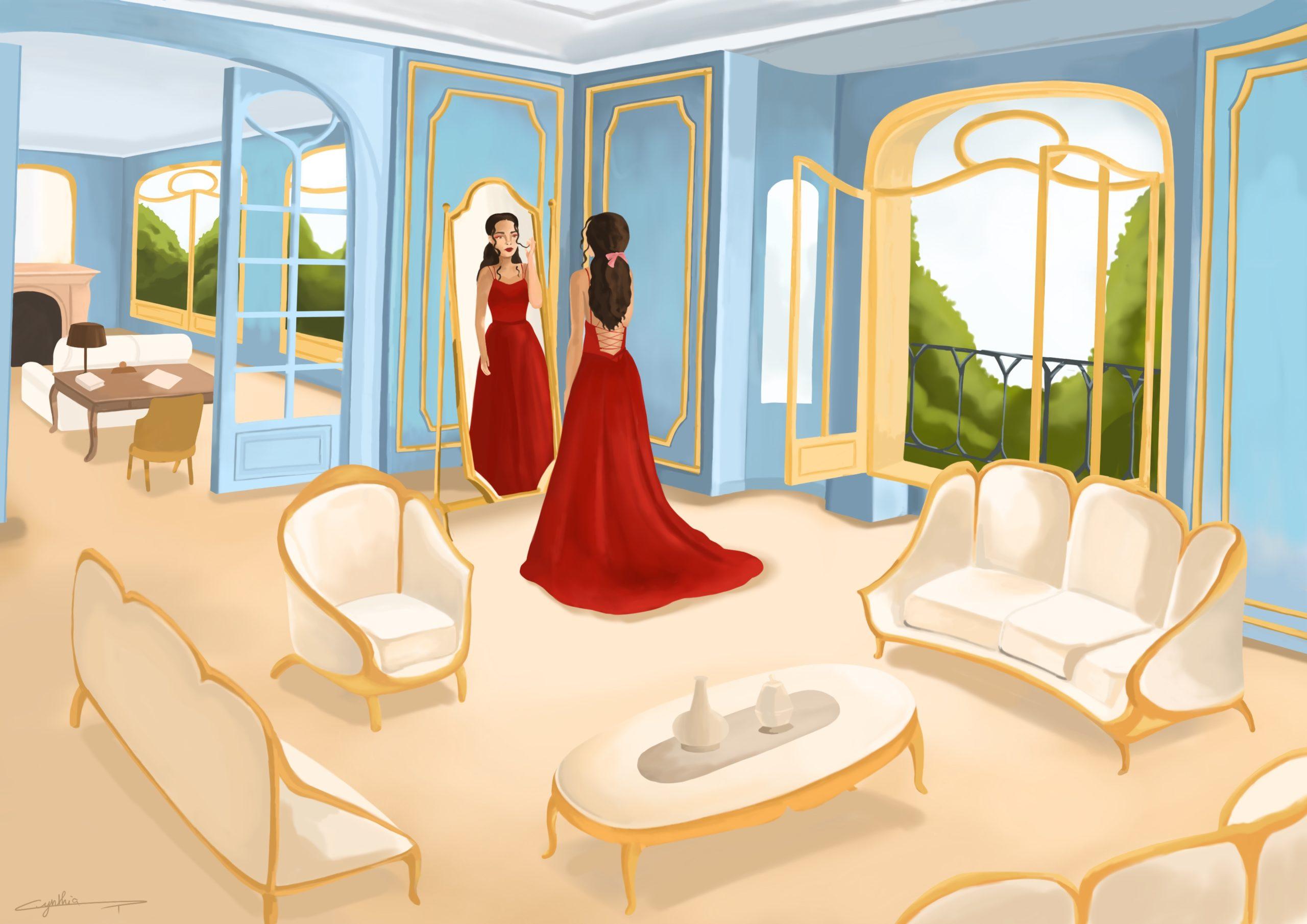 Illustration vie de château portfolio de Cynthia Artstudio