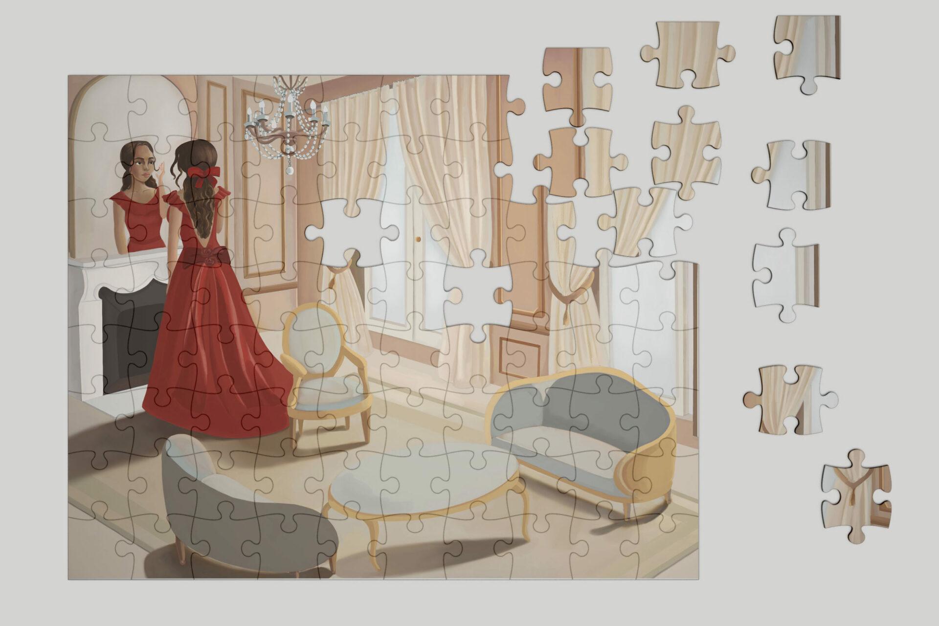 Puzzle Vie de château de Cynthia Artstudio